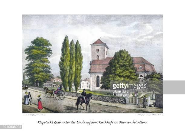 Der Dichter und Aufklärer Friedrich Gottlieb Klopstock wurde von Goethe wie von Heine als Vorbild verehrt Sein Grab befindet sich bis heute vor der...