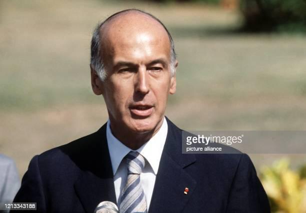 Der ehemalige französische Staatspräsident Valery Giscard d'Estaing im Januar 1979 während der Gipfelkonferenz in Guadeloupe.