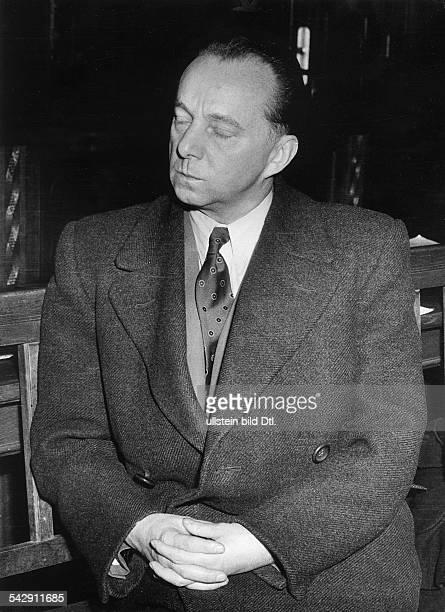 Der ehemalige Gestapo Kommissar MüllerBrockmann der Misshandlung des Häftlings Hermann Winter angeklagt 1955