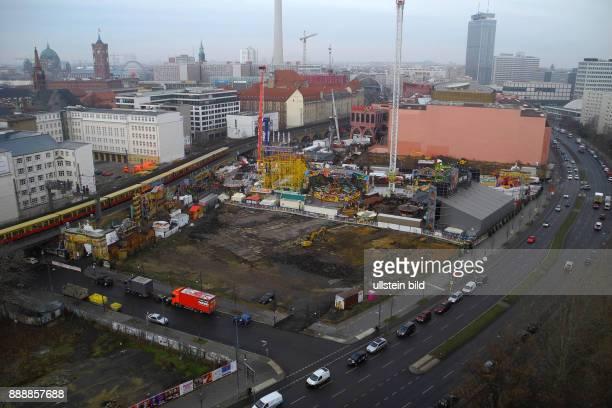 Der ehemals grosse Weihnachtsmarkt an der Alexanderstrasse behauptet sich jetzt als MiniVersion zwischen zwei Baustellen Erschliessungen Die Flaeche...