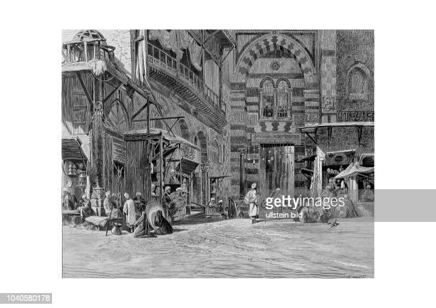 Der Eingang zum Hospital der KalaunMoschee in Kairo Aus Georg Moritz Ebers Aegypten in Bild und Wort Stuttgart und Leipzig 1879