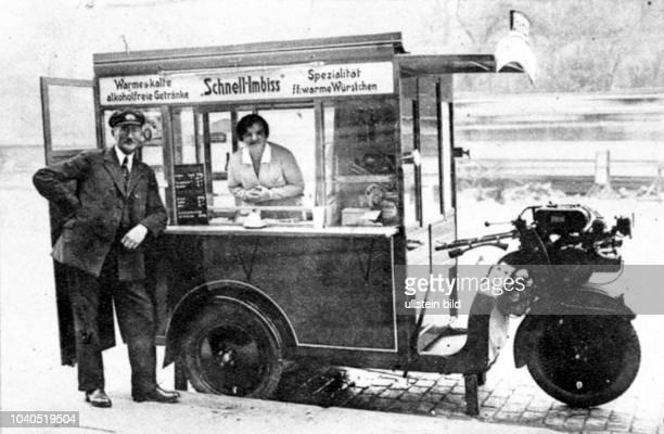 Der erste AutoSchnellimbiss in Hamburg Aus Hamburger Anzeiger vom 9111929