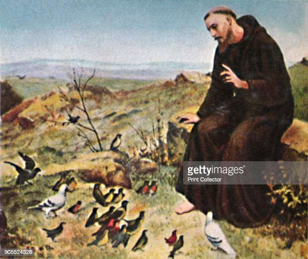 'Der Hellige Franz von Assisi 11821226' 1934 St Francis of Assisi Italian priest and founder of the Franciscan order 1493 St Francis St Francis with...