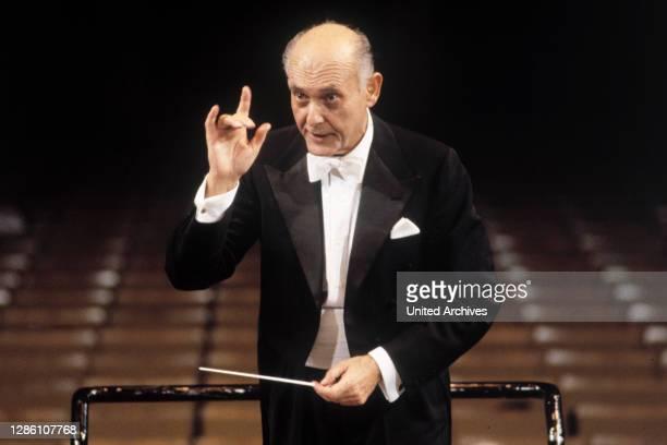 Der in Ungarn geborene und englische Dirigent SIR GEORG SOLTI , Porträt .