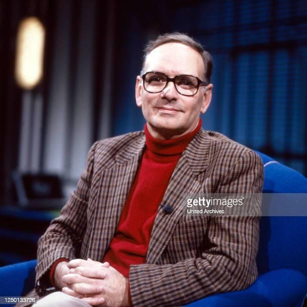 Der italienische Komponist und Dirigent Ennio Morricone Deutschland 1980er Jahre