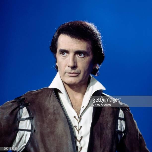 Der italienische Opernsänger Franco Corelli, Deutschland 1970er Jahre.