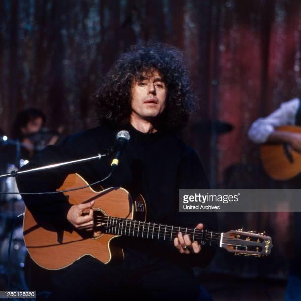 Der italienische Sänger und Cantautore Angelo Branduardi, Deutschland 1970er Jahre.