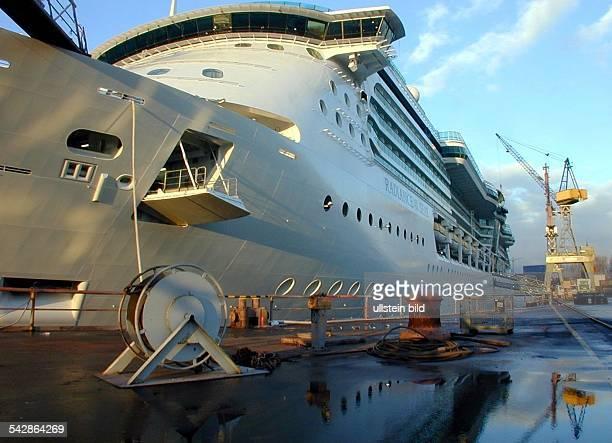 Der Luxusliner Radiance of the Seas im Trockendock von Blohm Voss im Hamburger Hafen Passagierschiff