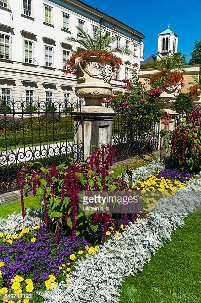 Der Mirabellgarten in der Stadt Salzburg in Österreich