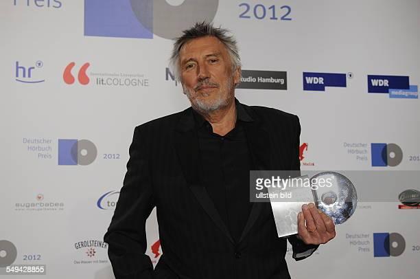 Der Schauspieler Christian Brückner mit Preis Sonderpreis für das Lebenswerk zur Verleihung des Deutschen Hörbuchpreises in Köln