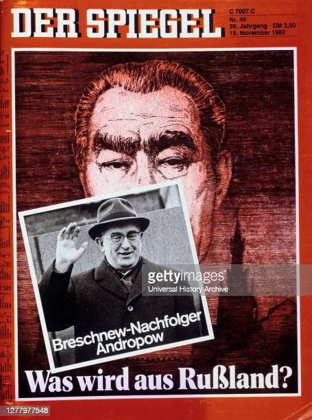 Der Spiegel front cover 1982 Yuri Andropov replaces Leonid Brezhnev as soviet leader