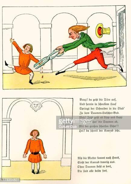 Der Struwwelpeter [Shock-headed Peter] by Dr. Heinrich Hoffmann. The Story of Suck-a-Thumb [Die Geschichte vom Daumenlutscher], 2nd page of...