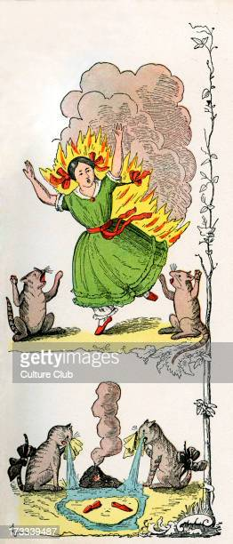 Der Struwwelpeter [Shock-headed Peter] by Dr. Heinrich Hoffmann. The Very Sad Story with the Fire Lighter [Die gar traurige Geschichte mit dem...