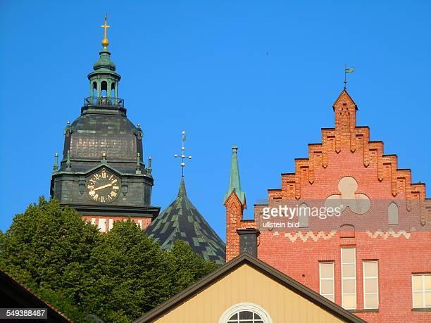 Der Turm des Domes in Strängnäs aufgenommen am 25 Juli 2012