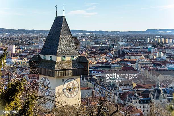 Der Uhrturm ist das Wahrzeichen der Stadt Graz Landeshauptstadt der Steiermark in Österreich