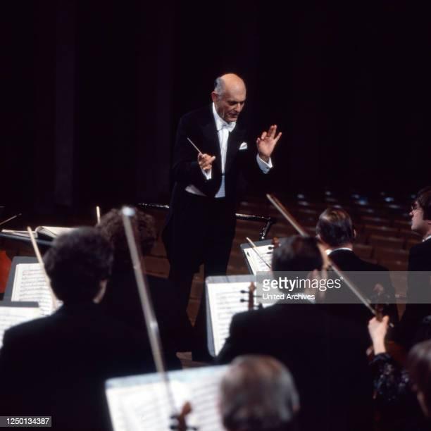 Der ungarisch britische Dirigent Georg Solti, Deutschland 1980er Jahre.