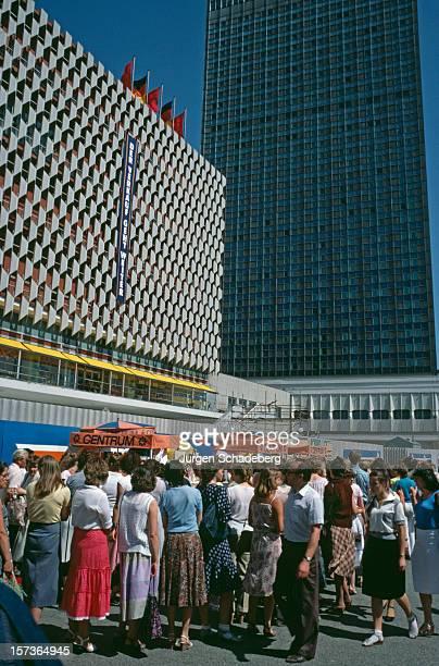 'Der Verkauf Geht Weiter' at the CentrumWarenhaus a department store on the Alexanderplatz in East Berlin Germany 1983