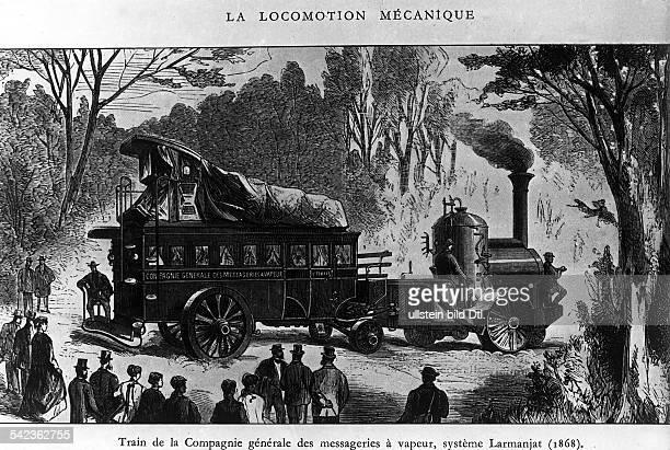 Der von dem Franzosen Larjamantkonstruierte Dampfwagen der ComagnieGeneral Des Messagiers A Vapeur1868