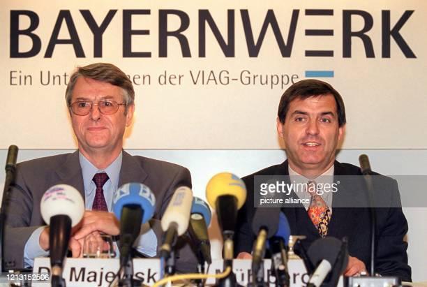 Der Vorstandsvorsitzende des drittgrößten deutschen Energieversorgers Bayernwerk AG, Otto Majewski , und das für Stromvertrieb und Marketing...