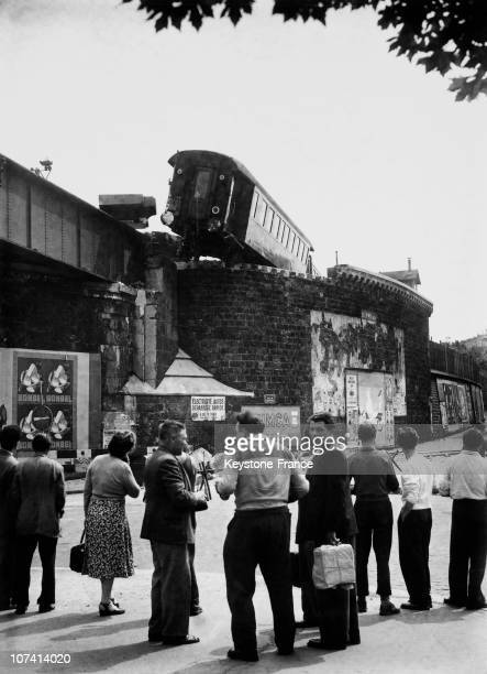 Derailing Of A Train In Between Bastille And Bel Air Stations At Paris In France On August 8Th 1953