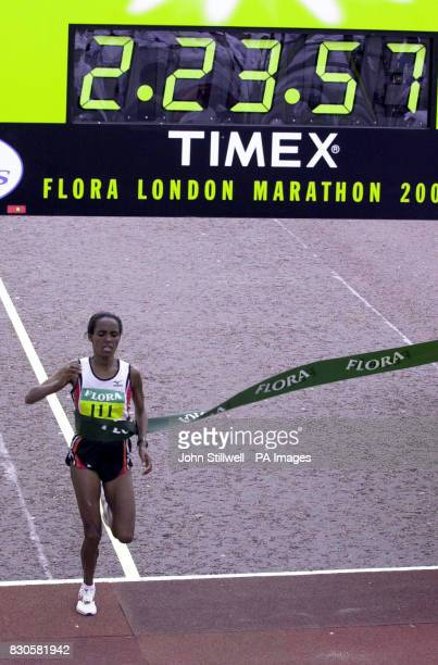 Derartu Tulu twice winner of the Olympic 10000 metres winning the women's Flora London Marathon The 29yearold Ethiopian sixth 12 months ago crossed...