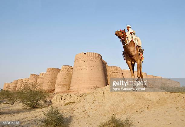 Derawar Fort is a large square fortress in Pakistan near Bahawalpur. The forty bastions of Derawar are visible for many miles in Cholistan Desert....