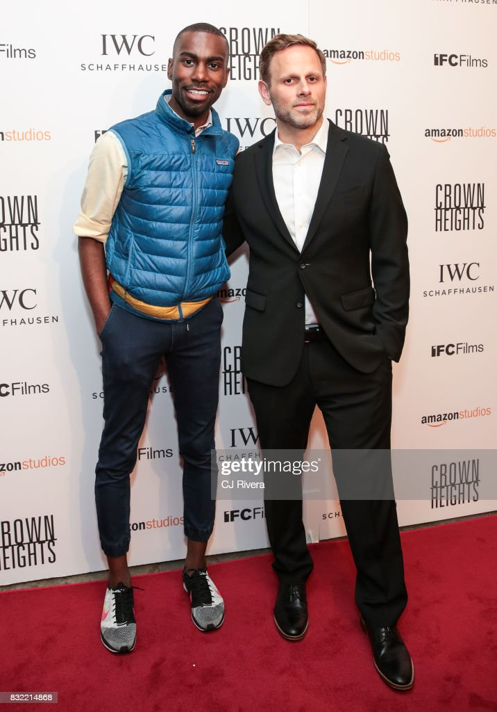 DeRay McKesson and Matt Ruskin attend the New York premiere of 'Crown Heights' at The Metrograph on August 15, 2017 in New York City.