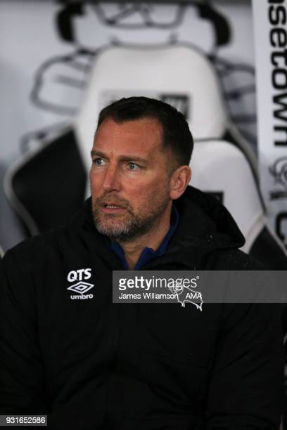 Derby County academy manager Darren Wassall during the Premier League 2 match between Derby County and Manchester City on March 9 2018 in Derby...