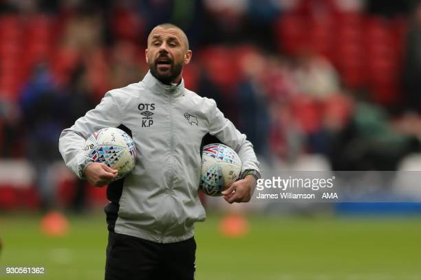 Derby County coach Kevin Phillips during the Sky Bet Championship match between Nottingham Forest and Derby County at City Ground on March 11 2018 in...