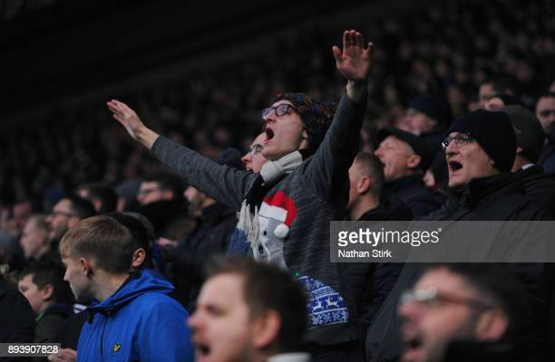 Derby County fan singing during the Sky Bet Championship match between Derby County and Aston Villa at iPro Stadium on December 16 2017 in Derby...