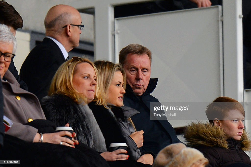 Derby County football advisor Harry Redknapp is seen on the stand during the Sky Bet Championship match between Derby County and Nottingham Forest at the iPro Stadium on March 19, 2016 in Derby, United Kingdom.