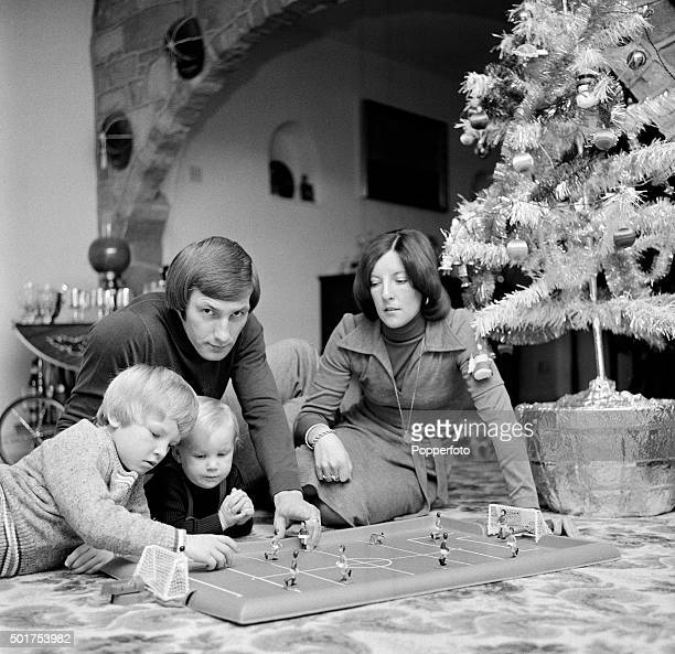 Derby County footballer Colin Todd at home with his wife Jennifer and sons Andrew and Colin Junior on 30th December 1976