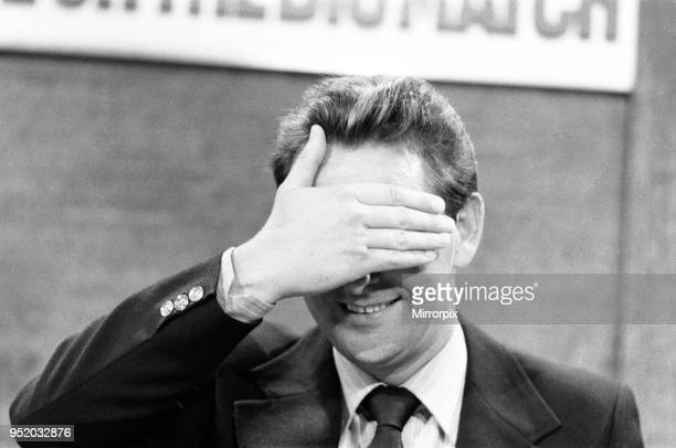 Derby County manager Brian Clough seen here in rehearsals as a football pundit on the ITV Big Match programme Our Picture Shows Brian Clough in the...