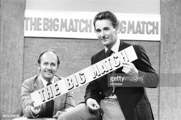 Derby County manager Brian Clough seen here in rehearsals as a football pundit on the ITV Big Match programme. Our Picture Shows: Seen here with...