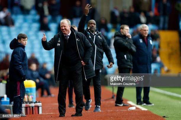 Derby County manager Steve McClaren reacts during the Sky Bet Championship match between Aston Villa and Derby County at Villa Park on February 25...