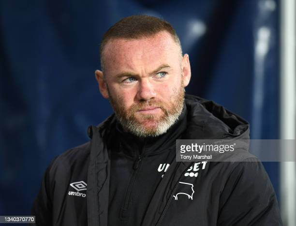 Derby County Manager Wayne Rooney during the Sky Bet Championship match between West Bromwich Albion and Derby County at The Hawthorns on September...