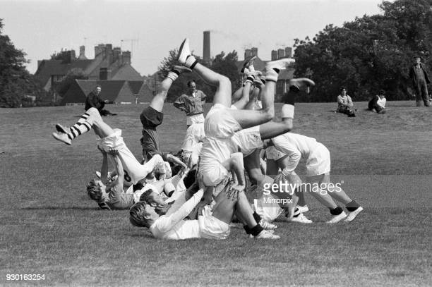Derby County training session for the new season at Colwick Wood, Nottingham, 13th July 1970.