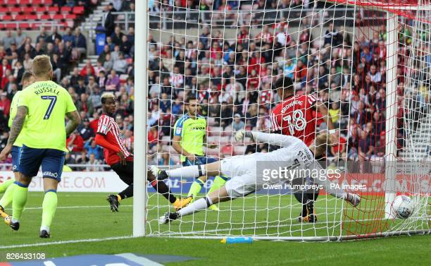 Derby County's Bradley Johnson scores his side's first goal of the game during the Sky Bet Championship match at the Stadium of Light.