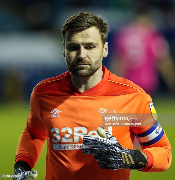 Derby County's David Marshall during the Sky Bet Championship match between Sheffield Wednesday and Derby County at Hillsborough Stadium on January...