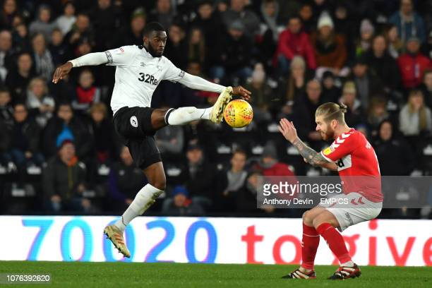 Derby County's Fikayo Tomori beats Middlesbrough's Adam Clayton to the ball Derby County v Middlesbrough Sky Bet Championship Pride Park