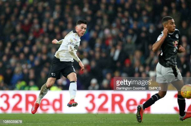Derby County's Harry Wilson scores his side's second goal of the game Derby County v Reading Sky Bet Championship Pride Park