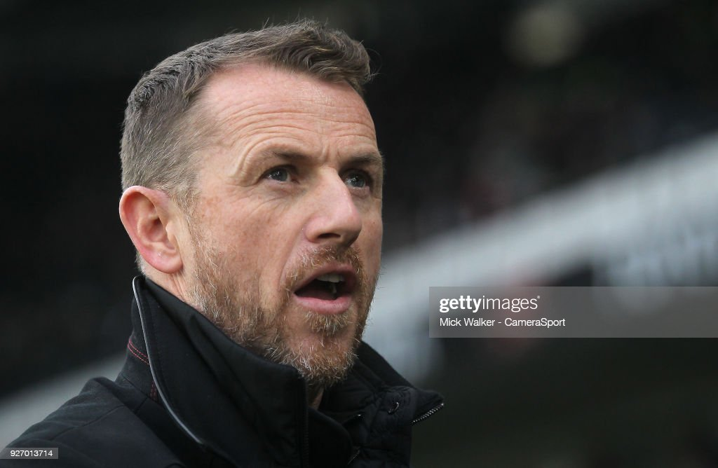 Derby County's Manager Gary Rowett during the Sky Bet Championship match between Derby County and Fulham at iPro Stadium on March 3, 2018 in Derby, England.