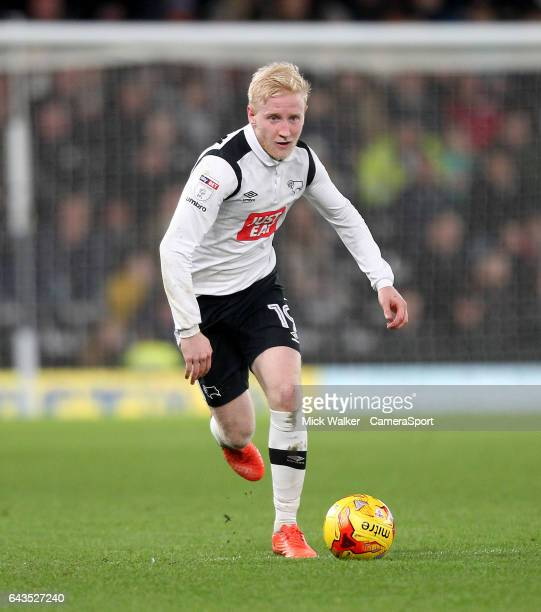 Derby County's Will Hughes during the Sky Bet Championship match between Derby County and Burton Albion at iPro Stadium on February 21 2017 in Derby...
