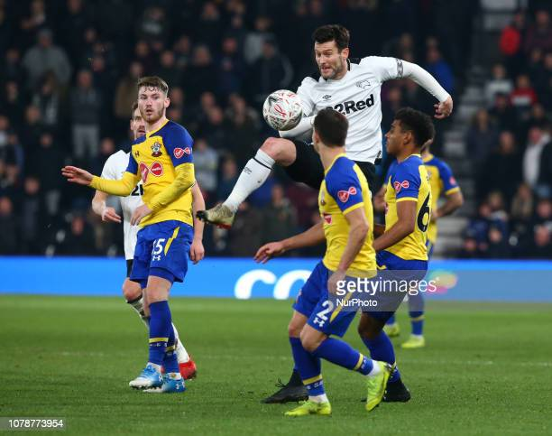 Derby England 05 January 2019 Derby County's David Nugent during FA Cup 3rd Round between Derby County and Southampton at Pride Park stadium Derby...
