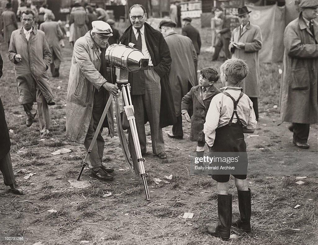 Derby Eve at Epsom, Surrey, June 1947. : News Photo