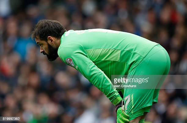 Derby keeper Scott Carson during the Sky Bet Championship match between Derby County and Bolton Wanderers at the iPro Stadium on April 09 2016 in...