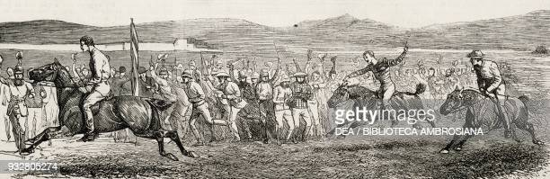 Derby racing at Khost Second AngloAfghan War illustration from the magazine The Graphic volume XIX no 489 April 12 1879