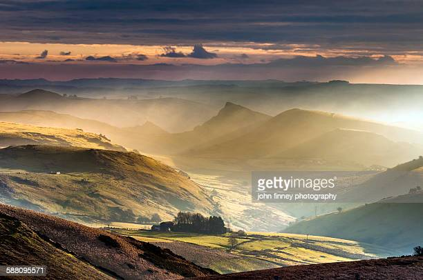 Derbyshire landscape in morning light