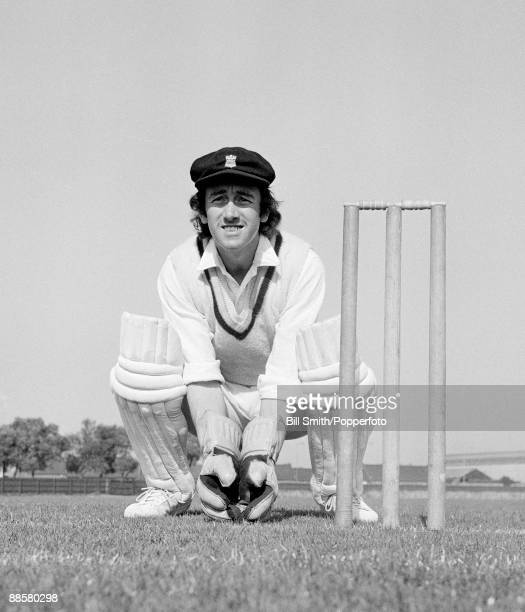 Derbyshire wicketkeeper Bob Taylor circa 1970