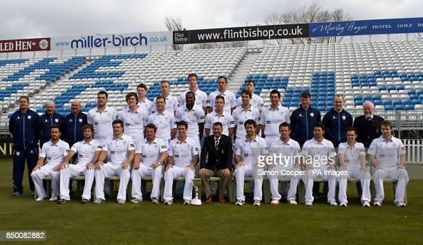 Derbyshire's back row Chris Durham Alasdair Evans Matt Higginbottom Ben Slater and Alex Hughes middle row Physio James Pipe Strength and Conditioning...